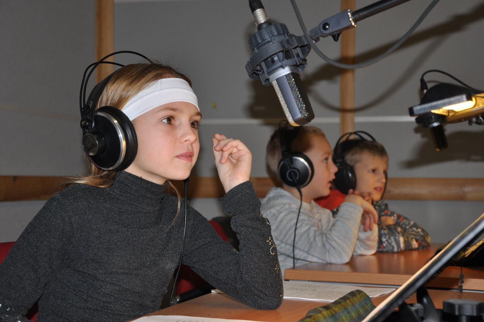 Дети в студии
