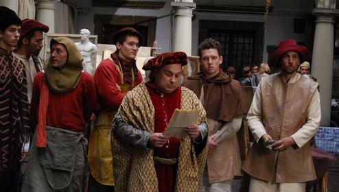 A film about Leonardo da Vinci is being shot on the